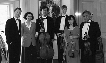 アーネム・フィルの同僚との室内楽(1999年/右から2人め)