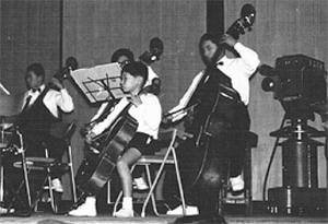 岡山市ジュニアオーケストラ第1回定期演奏会<br /> (コントラバスの前/小3)