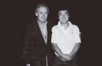 ユーゴスラヴィアで、シャフラン先生と(24~25歳ころ)