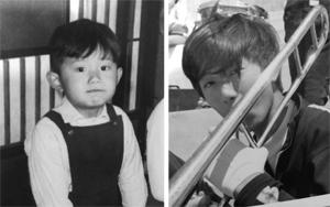左:4歳ころ 右:中2ころ